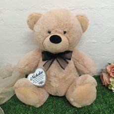 Christening Keepsake Bear with heart Cream / Black 40cm