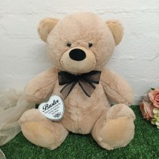 Pet Memorial Keepsake Bear with heart Cream / Black 40cm