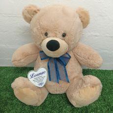 Baptism Keepsake Bear with heart Cream / Blue 40cm