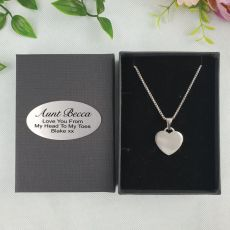 Aunt Heart Pendant Necklace in Personalised Box