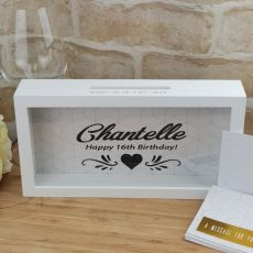 18th Birthday Personalised Message Box Guest Book Keepsake