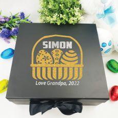 Personalised Black Easter Box - Easter Basket