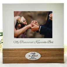 Personalised Wedding Keepsake Photo Box