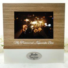 Personalised 80th Birthday Memory Keepsake Box
