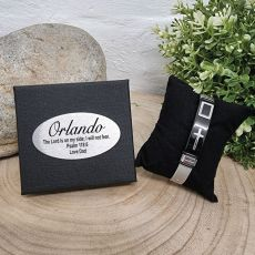 Catholic Cross Bracelet In Personalised Box