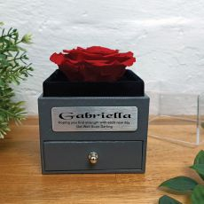 Get Well Red Rose Jewellery Gift Box