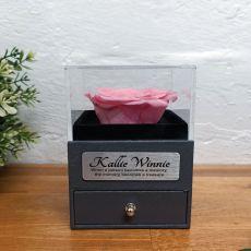 Eternal Pink Rose Memorial Jewellery Gift Box