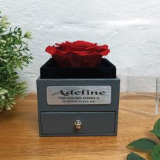 Eternal Red Rose 60th Jewellery Gift Box