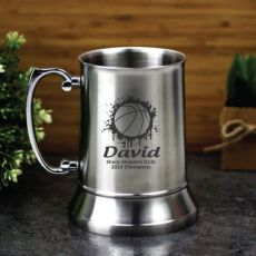Basketball Coach Engraved Personalised Stainless Beer Stein Glass