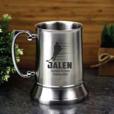 Hocky Coach Engraved Personalised Stainless Beer Stein Glass