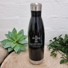 Godfather Engraved Drink Bottle Black