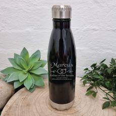 Father Of Groom Engraved Black Drink Bottle