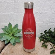 Grandpa Engraved Drink Bottle Red (M)