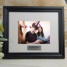 Personalised 16th Frame Black Timber Hathorne 5x7