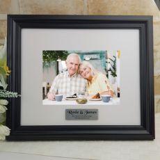 Personalised Anniversary Frame Black Timber Hathorne 5x7