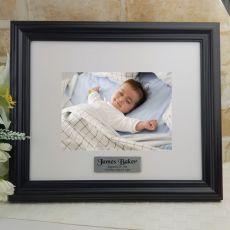 Personalised Baptism Frame Black Timber Hathorne 5x7