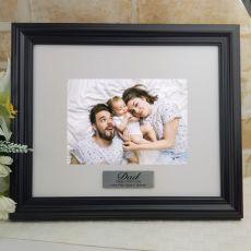 Personalised Dad Frame Black Timber Hathorne 5x7