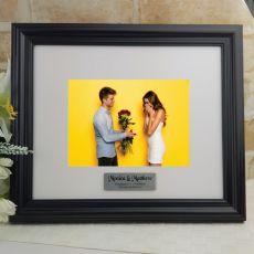 Personalised Engagment Frame Black Timber Hathorne 5x7