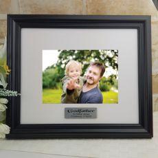 Personalised Godfather Frame Black Timber Hathorne 5x7