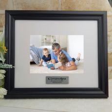 Personalised Grandpa Frame Black Timber Hathorne 5x7