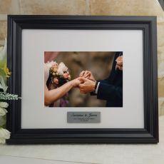Personalised Wedding Frame Black Timber Hathorne 5x7