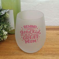 A Great Mum Wine Glass Tumbler 500ml