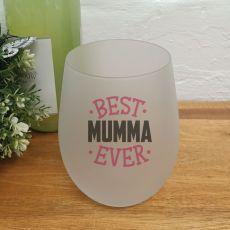 Best Mum Stemless Wine Glass Tumbler 500ml