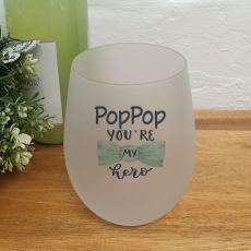 Poppy Your My Hero Wine Glass Tumbler 500ml