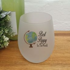 Best Dad In The World Wine Glass Tumbler 500ml