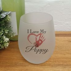 I Love My Poppy Wine Glass Tumbler 500ml
