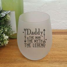 Daddy-Man Myth Legend Wine Glass Tumbler 500ml