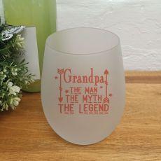 Grandpa -Man Myth Legend Wine Glass Tumbler 500ml