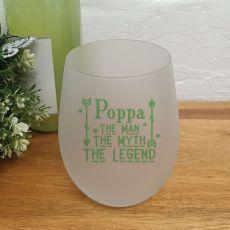 Poppy -Man Myth Legend Wine Glass Tumbler 500ml