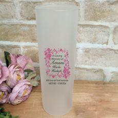 In Loving Memory Frosted Glass Memorial Vase