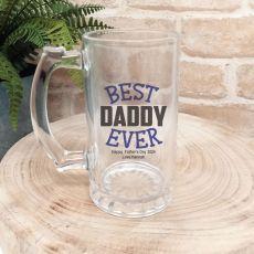 Best Dad Ever Personalised Beer Stein