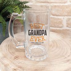 Best Grandpa Ever Personalised Beer Stein