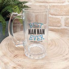 Best Nan Ever Personalised Beer Stein