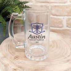 Hockey Coach Personalised Glass Beer Stein
