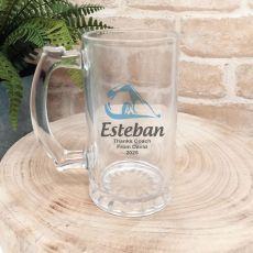 Swim Coach Personalised Glass Beer Stein