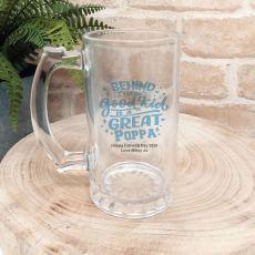 Behind Every Good Kid Is A Great Pop Beer Stein