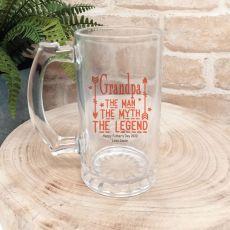 Grandpa  - Man, Myth, Legend  Beer Stein