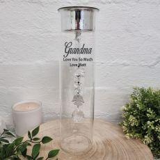 Grandma Glass Candle Holder Angel Black Crystal