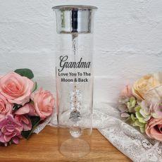 Grandma Glass Candle Holder Sun Angel