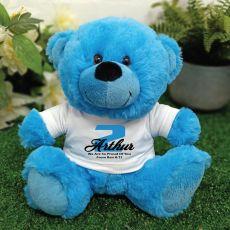 Personalised Birthday Teddy Bear Plush Blue