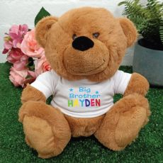 Personalised Brother Teddy Bear Brown Plush