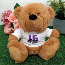 16th Teddy Bear Brown Personalised Plush