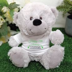 Personalised 18th Birthday Bear Grey Plush