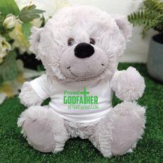 Godfather  Personalised Teddy Bear Grey Plush