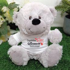 Graduation Personalised Teddy Bear Grey Plush