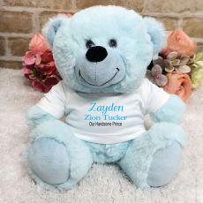 Newborn Personalised Teddy Bear Baby Boy
